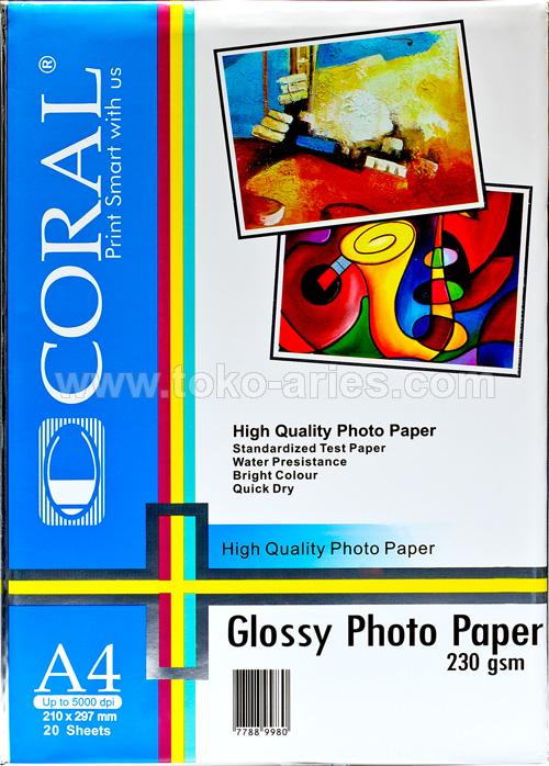 GLOSSY PHOTO PAPER GP-230 A4 CORAL