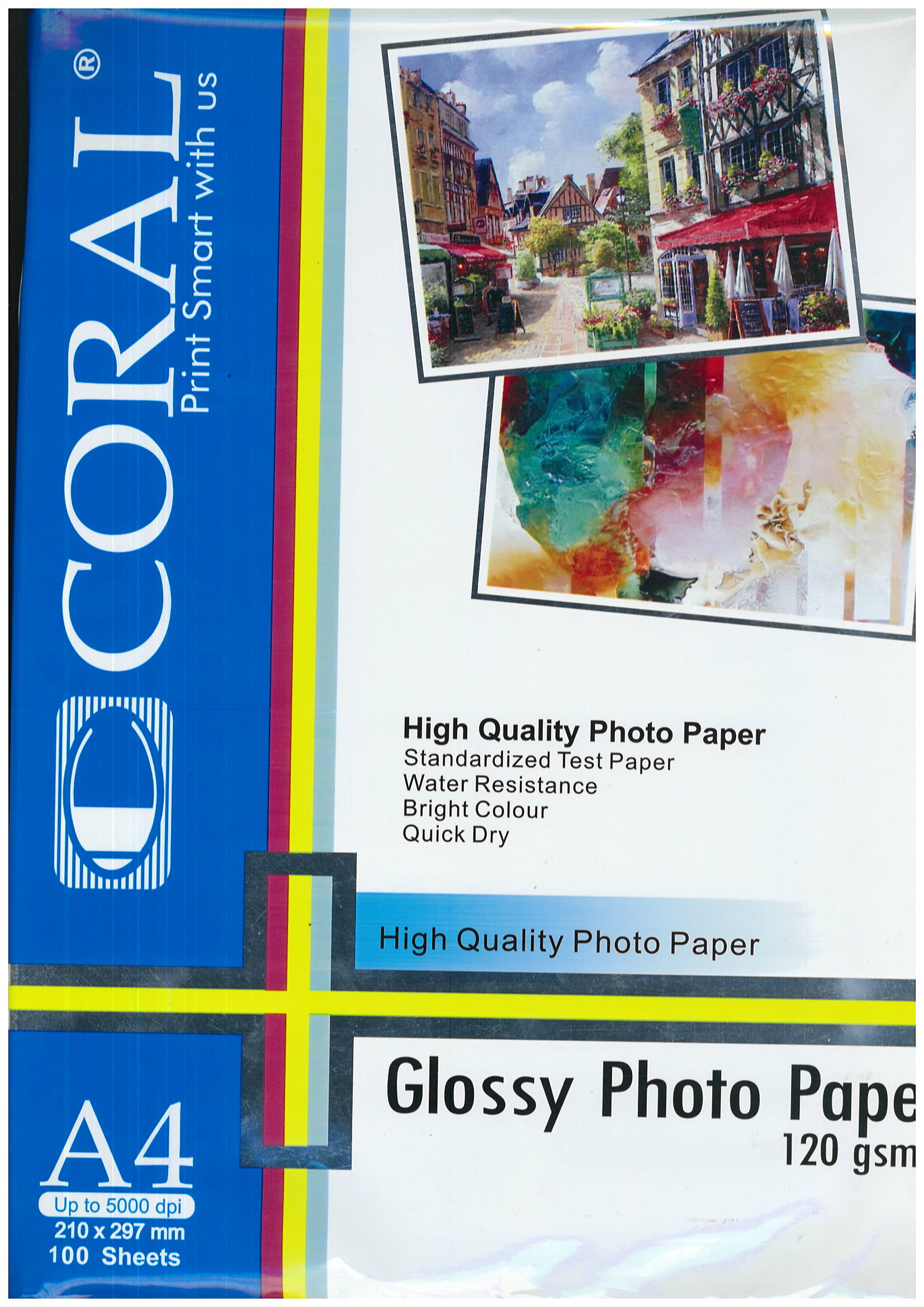 GLOSSY PHOTO PAPER A4 120GSM CORAL