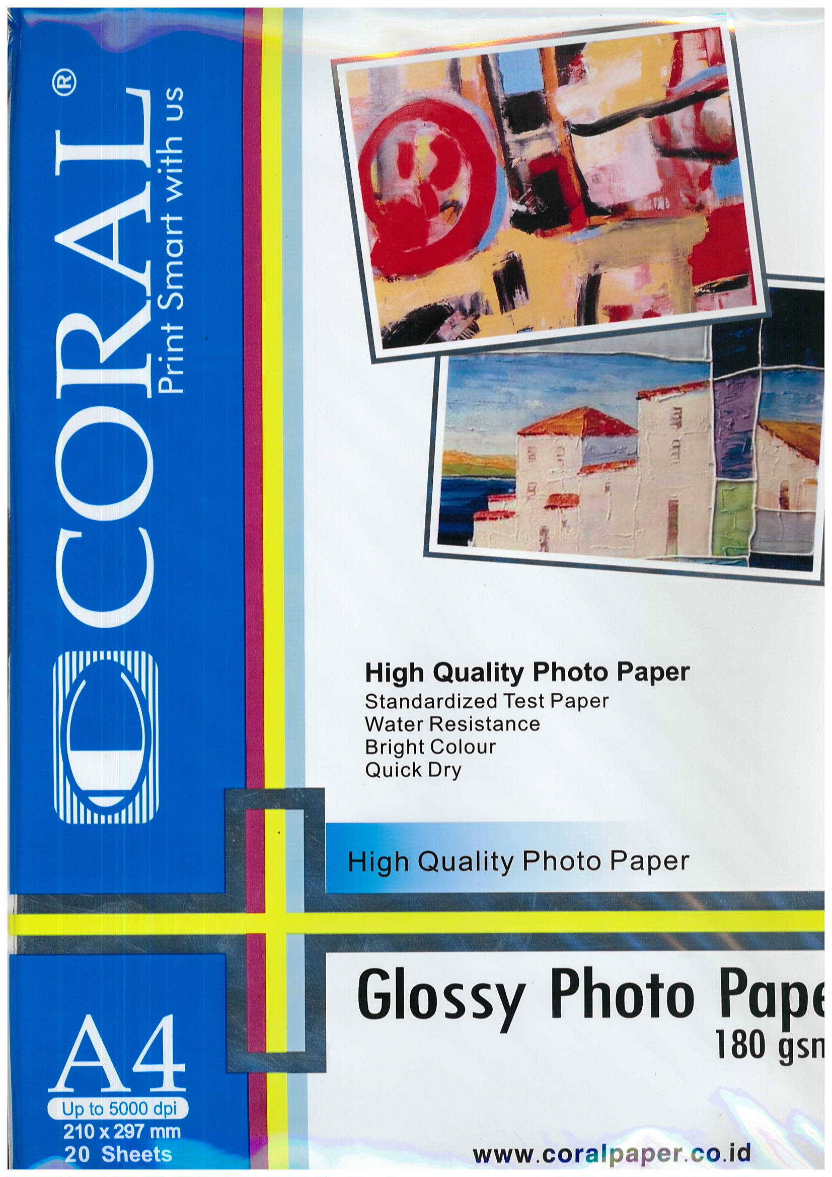 GLOSSY PHOTO PAPER A4 180GSM CORAL